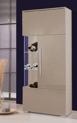 vitrine cappuccino bestseller shop f r m bel und einrichtungen. Black Bedroom Furniture Sets. Home Design Ideas
