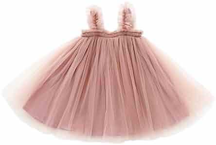 1341c320d YOHA Baby Girls Cotton Soft Bow Jumper Dress Suspender Skirts Pinafore Dress