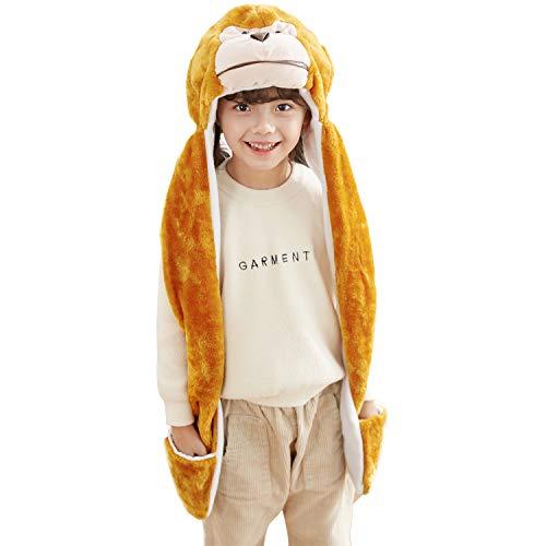 PULAMA Novelty Animal HAT Cosplay CAP - Unisex - Soft Warm Headwraps - - Adult Monkey Hat