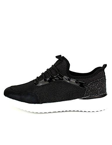 Femme Chaussures Mode Noires Bestelle Baskets Noir Cendriyon xvqXFCn4