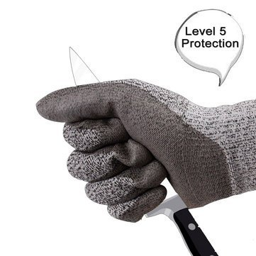 SAFEYURA Cut Resistant Level 5 Protection Food Grade EN388 Certified Safety Gloves for Outdoor Fishing