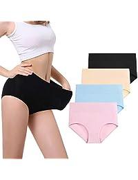 Molasus Women's Mid-High Waist Cotton Post Partum Briefs Underwear C Section Panties Soft Breathable Full Coverage Underpants