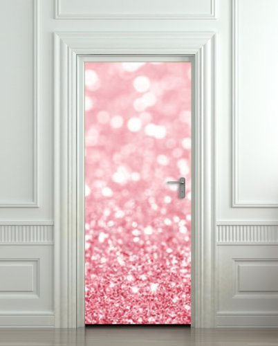 GIANT Door STICKER bling glitter rose shimmer sparks , mural, decole, film 30x79