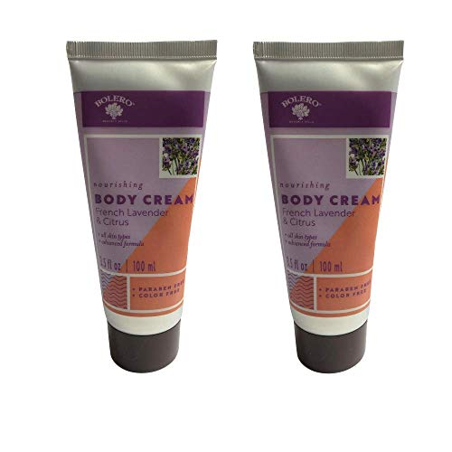 Moisturizing Body Cream- Cruelty Free, No Artificial Dyes or Parabens- Pack of 2 (French Lavender and Citrus)