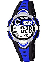 3 Multiple Alarms Reminder Sports Kids Wristwatch...