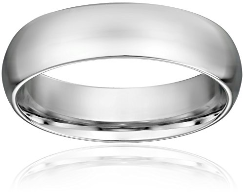 Standard Comfort-Fit Platinum Band, 6mm, Size 8.5 Comfort Fit Platinum Wedding Ring