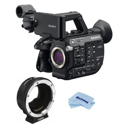 Sony PXW-FS5 4K XDCAM Camera System with Super 35 CMOS Sensor, Body Only - With Metabones Canon EF/EF-S Lens to Sony E Mount T Smart Adapter, Microfiber Cloth by Sony