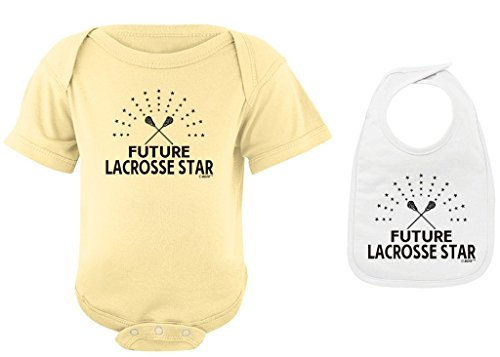 Baby Gifts For All Toddler Clothes Future Lacrosse Star Banana Bodysuit White Bib Bundle 12 Months
