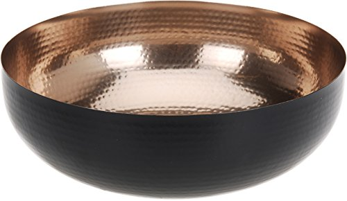 Dekoschale 25 cm lebensmittelecht schwarz kupfer Schale Teller Deko Dekoteller
