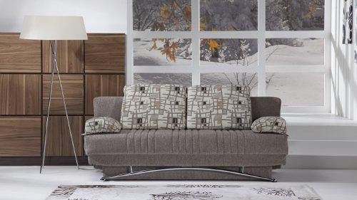 Fantasy Modern Sofa Sleeper in Aristo Light Brown