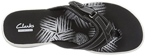 CLARKS Women's Breeze Sea Flip Flop, New Black Synthetic, 8 M US by CLARKS (Image #11)