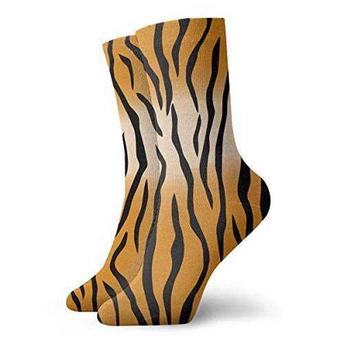 Tiger Stripes Pattern Women Dress Socks Fashionable Short Casual Socks 11.8