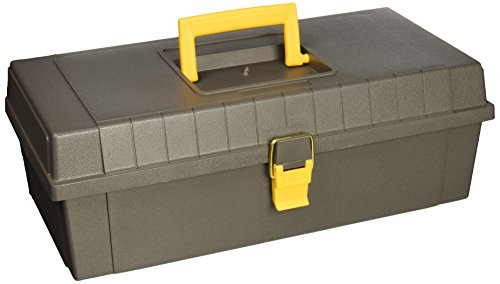 Plano Molding 100 15-Inch Tool Box, Graphite Gray with Iron Yellow