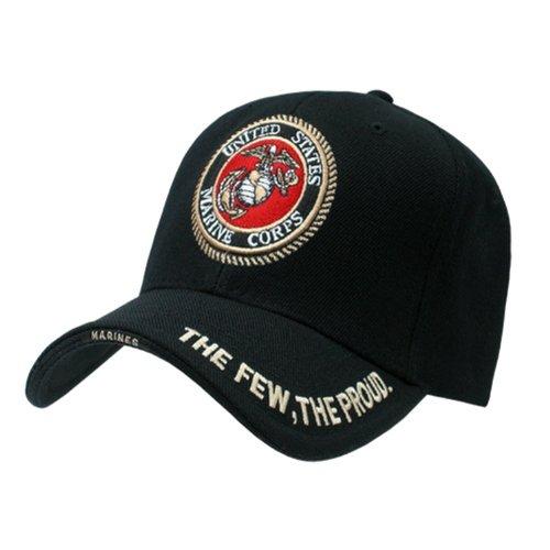 - Rapid Dominance Genuine The Legend, Military Branch Caps (Adjustable , Marines Black)