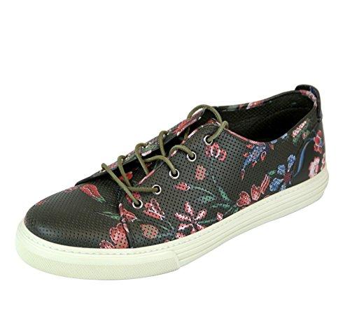 Sneakers Moda Uomo Gucci In Pelle Stampa Fiore 342049 3035
