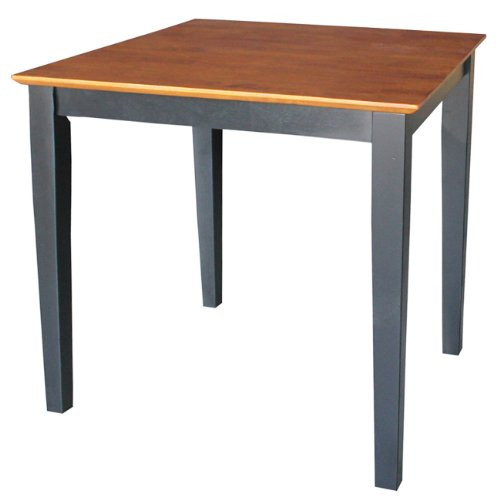 International Concepts Solid Wood Dining Table with Shaker Legs, 30 by 30 by 30-Inch, ()