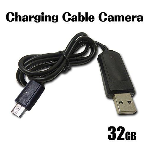 スマホ充電ケーブル型ビデオカメラ 32GB内蔵 スマホ充電可能 【アンドロイド用】 B075FMBXGS