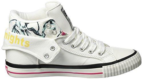 Sneaker Donna Flower White Alte Roco Pink Knights British Wei qwR4AA