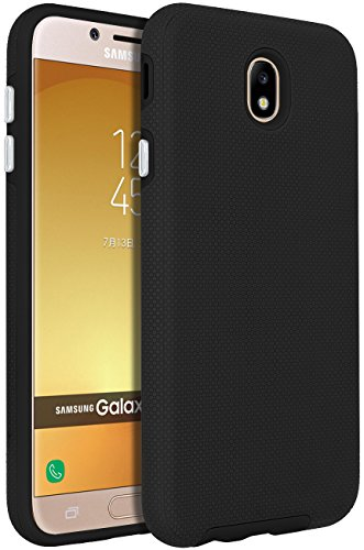 ANLI Galaxy J7 Pro Case,Galaxy J730G Case, [Slim Fit] Drop Protection Hybrid Dual Layer Armor Protective Case Cover for Samsung Galaxy J7 Pro SM-J730G 5.5 Inch-Black