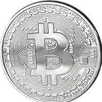 TS Trade Gold / Silver / Copper Plated Bitcoin Coin Collectible Gift BTC Coin Art Collection Physique