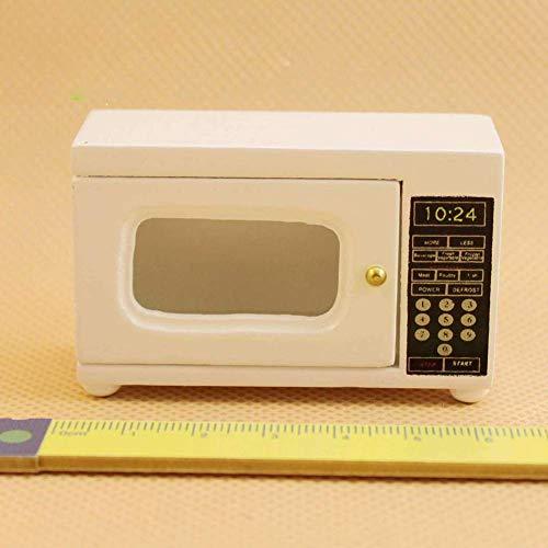 Vektenxi 1/12 puppenhaus zubehör Miniatur schöne Holz mikrowelle Modell Kids Pretend Play Geschenk Toys bequem und praktisch
