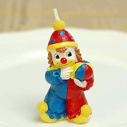Super Amazon Com Sweet Homes Gardens Adorable Clown Candle Birthday Funny Birthday Cards Online Inifodamsfinfo