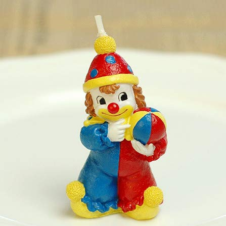 Sweet Homes & Gardens Adorable Clown Candle Birthday Cake Topper Children's Day Party Decoration
