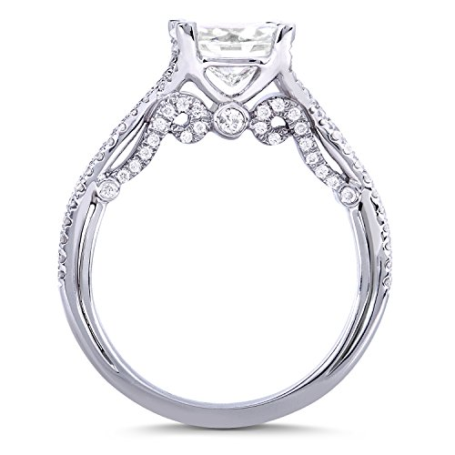 Forever rond classique et diamant Bague de Fiançailles en Or 911/3Outlet-14K Or Blanc _ _ _ _ 7,5