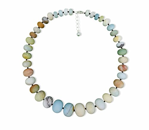 Amazonite Jewelry (Natural Matte Amazonite Graduated Beaded Statement Necklace, 19