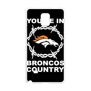 Denver Broncos Samsung Galaxy Note 4 Cell Phone Case White DIY gift zhm004_8726407