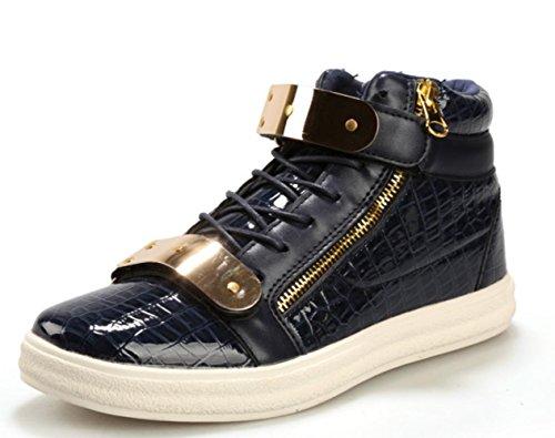 CSDM Uomo Casual Fashion Aiuto Aiuto Piattaforma di metallo Scarpe da tavolo Scarpe da basket Pattini correnti di sport , blue , 41