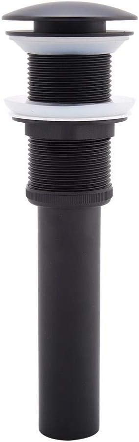 Push Open Waschbecken Ablau Ablaufventil Abflussgarnitur ohne /überlauf Chrom Pop Up Ventil f/ür Waschbecken /& Waschtisch Antique G1 1//4