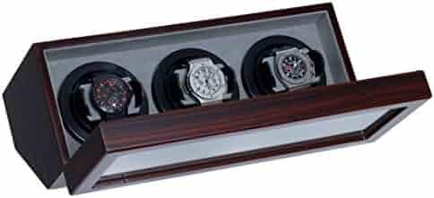Watch Winder Ebony Wood With Japanese Mabuchi Motor & 4 Different TPD Settings.