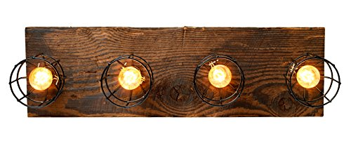 LIMITED SUPPLY - Farmhouse Style Reclaimed Wood Beam Rustic Decor Chandelier Light - Early 1900's Wood Hand Crafted in the USA (Reclaimed Wood) by Barrister & Joiner Lighting (Image #2)