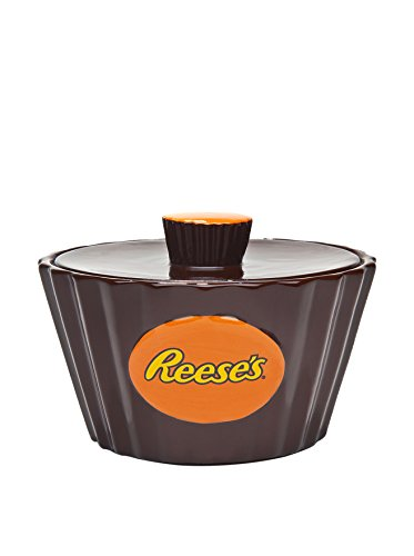 Reese's Candy Dish With Lid - Miniature Peanut Butter Cup Treat Bowl
