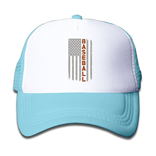 SFT Kid's American Flag Baseball Trucker Baseball Cap Adjustable Mesh Hat Girl Boy