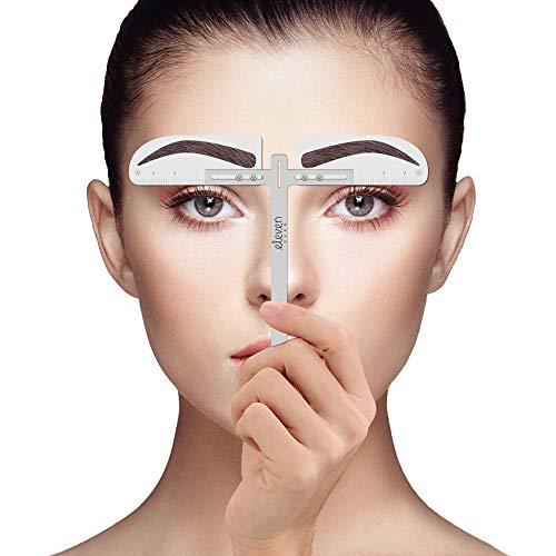 ELEVEN EVER Eyebrow Stencil Ruler kit- European Style eyebrow template Permanent Makeup Tools (Best Eyebrow Stencils Reviews)