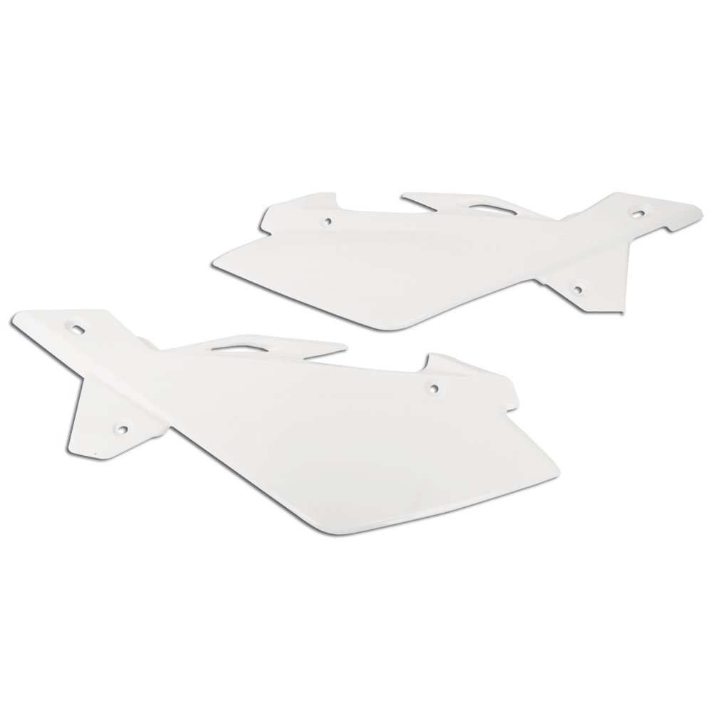 Polisport Side Panels White - Fits: Husqvarna WR 300 2009-2011