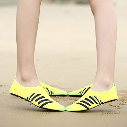Men Women Yoga Water Shoes,Couple Summer Quick Drying Aqua Socks Barefoot Outdoor Beach Swim Slip-Proof Diving Shoes by Dacawin-Water Shoes (Image #2)