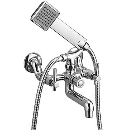 Kamal Wall Mixer - Q/T (with Crutch & Hand Shower)