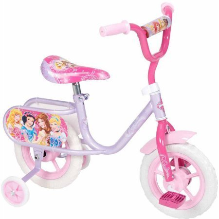 "Huffy K7153 10"" Knobby Tread Foam Tires Girls' Disney Princess Bike, Pink/Purple Color"