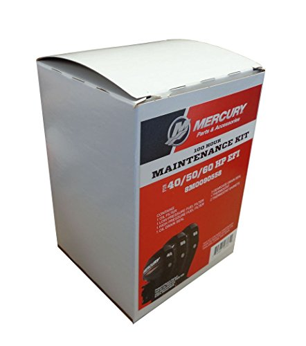 OEM Mercury 100 Hour Maintenance Kit for 40, 50, 60 HP EFI Outboards ()