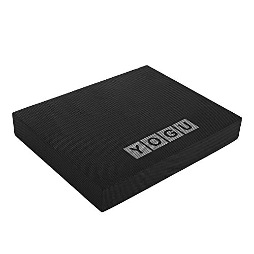 YOGU Balance Foam Pads - Choice: Large, XL and Multi Color (Black - L)