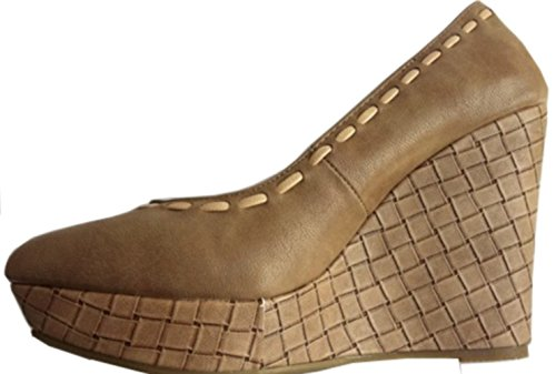 chaussures compensées - femme - taupe