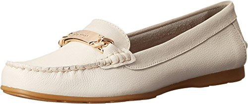 Coach Olive Chalk Pebble Grain Leather Women's Slip on Shoes