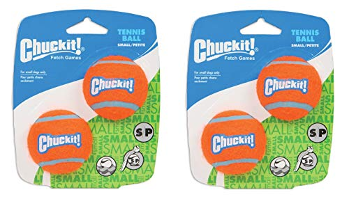 Chuckit! 2 Pack of Tennis Ball Shrink Sleeves, Small (1.5 Inch), 2 Balls Per Pack