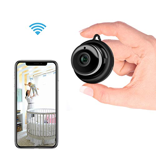 Kolaura Wireless Hidden WiFi Camera, Home Security Mini IP Camera Covert Nanny Cam Indoor Video Recorder Support 2 Way Audio Motion Detection Night Vision