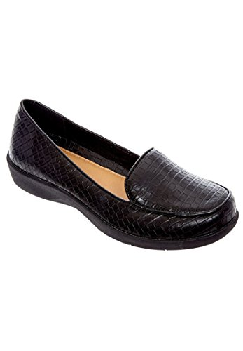 Comfortview Womens Wide Jemma Flats Black