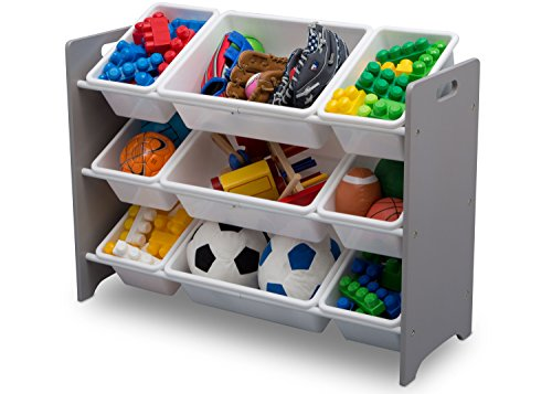 41SO61JowML - Delta Children MySize 9 Bin Plastic Toy Organizer, Grey