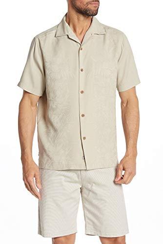 Tommy Bahama Kamari Border Silk Camp Shirt (Color: Twill, Size XXL)